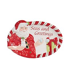Fitz and Floyd® Coastal Claus Sentiment Tray Seas and Greetings