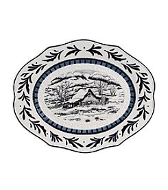 Fitz and Floyd® Bristol Holiday Platter with Winter Decal