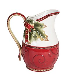 Fitz and Floyd® Damask Holiday Motif Pitcher
