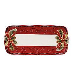 Fitz and Floyd® Damask Holiday Bread Tray