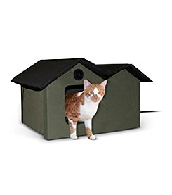 K&H Pet Products Extra Wide Outdoor Heated Kitty House