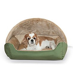 K&H Pet Products Thermo-Hooded Lounger Bed