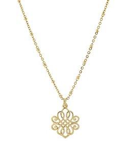 1928® Jewelry Goldtone Filigree Pendant Necklace