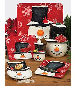 Certified International Top Hat Snowman by Barb Tourillotte Dinnerware Collection