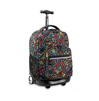 J World® Sunrise Doodle Rolling Backpack