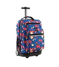J World® Sundance Vintage Rose Rolling Backpack