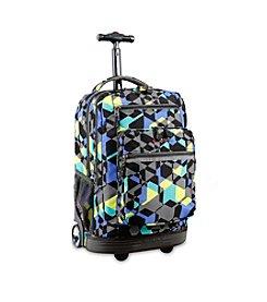 J World® Sundance Cubes Rolling Backpack
