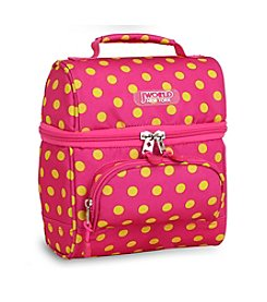 J World® Corey Pink Buttons Lunch Bag