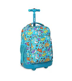 J World® Sunny Aniphabets Rolling Backpack