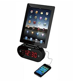 Universal Dual Charger with Alarm Clock and Cradle