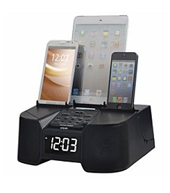 6 Port Smart Phone Charger with Bluetooth, Alarm, Clock, FM Radio