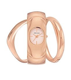 Anne Klein®Studio Rose Goldtone Chunky Bangle Set