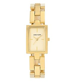 Anne Klein®Studio Goldtone Open Link Bracelet Watch