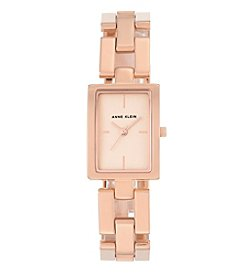 Anne Klein®Studio Rose Goldtone Open Link Bracelet Watch