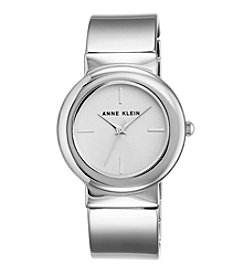 Anne Klein®Studio Silvertone Bangle Watch