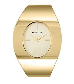 Anne Klein®Studio Goldtone Oval Shaped Cuff Watch