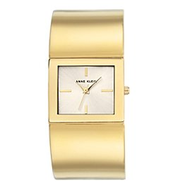 Anne Klein®Studio Goldtone Rectangular Shaped Bangle Watch