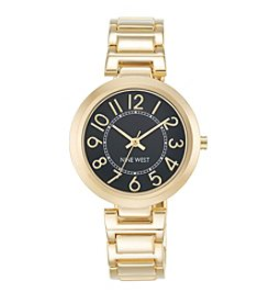 Nine West® Classic Goldtone Easy Reader Bracelet Watch