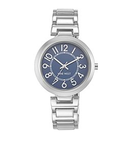 Nine West® Classic Silvertone Easy Reader Bracelet Watch