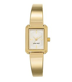 Nine West® Goldtone Bangle Watch