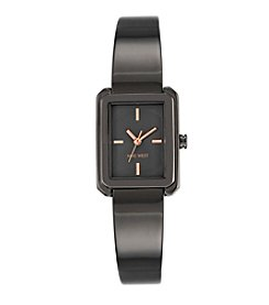 Nine West® Dark Grey Bangle Watch