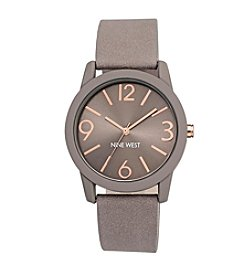 Nine West® Taupe Rubberized Strap Watch