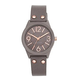 Nine West® Grey Rubberized Strap Watch