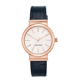 Nine West® Rose Goldtone Strap Watch