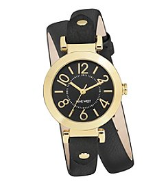 Nine West® Brown Double Strap Watch