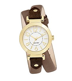 Nine West® Taupe Double Strap Watch