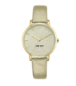 Nine West® Glitter and Sparkle Strap Watch