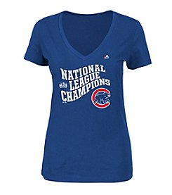 Majestic MLB® Chicago Cubs Women's National League Champions Short Sleeve Tee