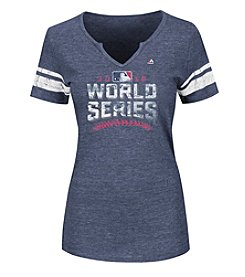 Majestic MLB® Chicago Cubs Women's 2016 World Series Logo Tee