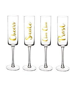 Cathy's Concepts Cheers Contemporary Champagne Flutes