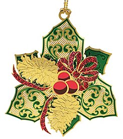 ChemArt Elegant Holly Ornament