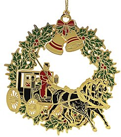 ChemArt Christmas Horse & Buggy Ornament
