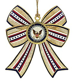 ChemArt Navy 3D Bow Ornament