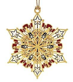 ChemArt Americana Snowflake Ornament