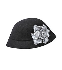 August Hats Black Blossom Cloche Hat