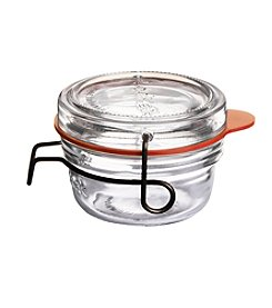 Luigi Bormioli Set of 6 2.75-oz. Lock-Eat Canning, Preserving &  Serving Food Jars