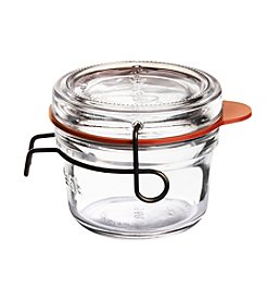Luigi Bormioli Set of 6 4.25-oz. Lock-Eat Canning, Preserving &  Serving Food Jars