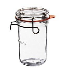 Luigi Bormioli Set of 6 11.75-oz. Lock-Eat Canning, Preserving &  Serving Food Jars