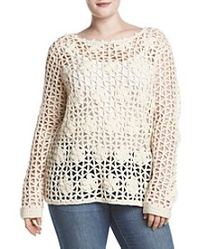 Hippie Laundry Plus Size Open Weave Sweater