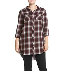 Hippie Laundry Plus Size Plaid Tunic Shirt