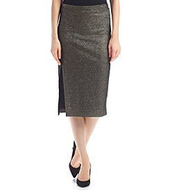 XOXO® Metallic Midi Skirt