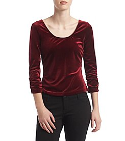 XOXO® Rouched Velvet Top