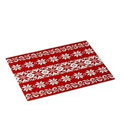 LivingQuarters Red Fair Isle Counter Saver