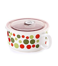 Boston Warehouse 22-oz. Dots Souper Mug With Lid