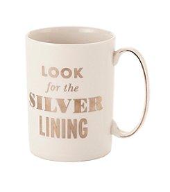kate spade new york® Simply Sparkling Silver Lining Mug