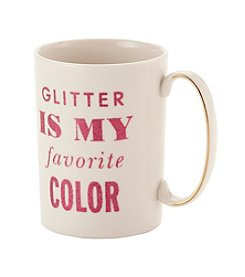 kate spade new york® Simply Sparkling Glitter Is My Favorite Color Mug